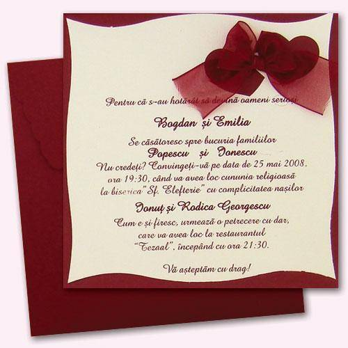 Invitatii personalizate evenimente – nunta, botez, eveniment corporate