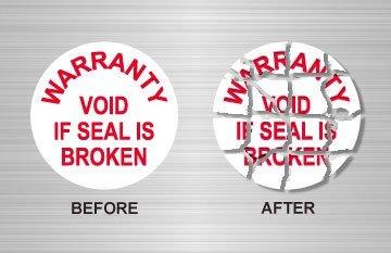 Sigilii garantie Distructibile pentru produse