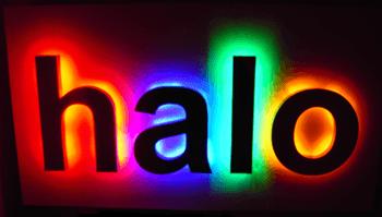 Litere luminoase tip halou